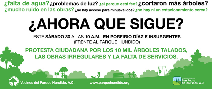 Protesta sabado 30 mayo