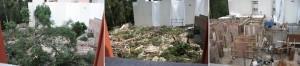 Hacer click para ver foto en grande, destrucción total...