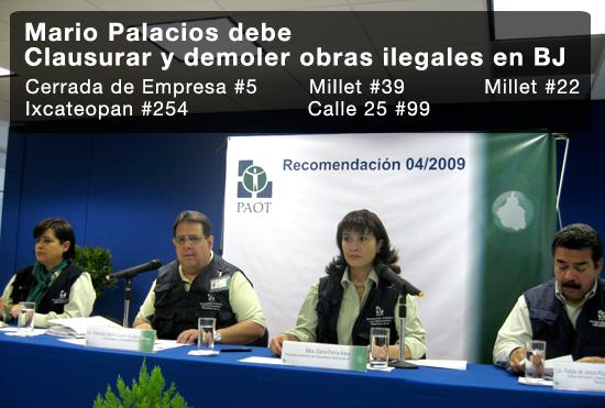 PAOT recomienda a Mario Palacios
