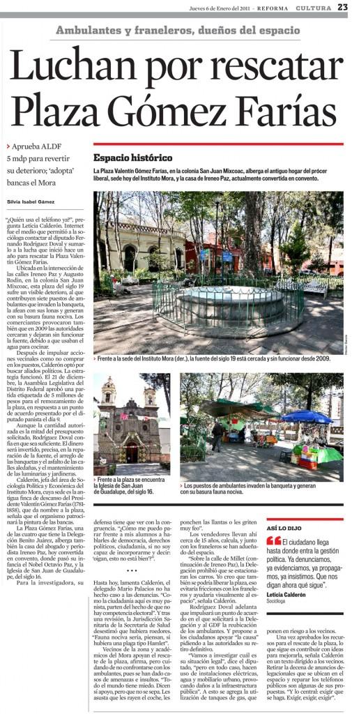 Rescate Plaza Valentín Gómez Farías